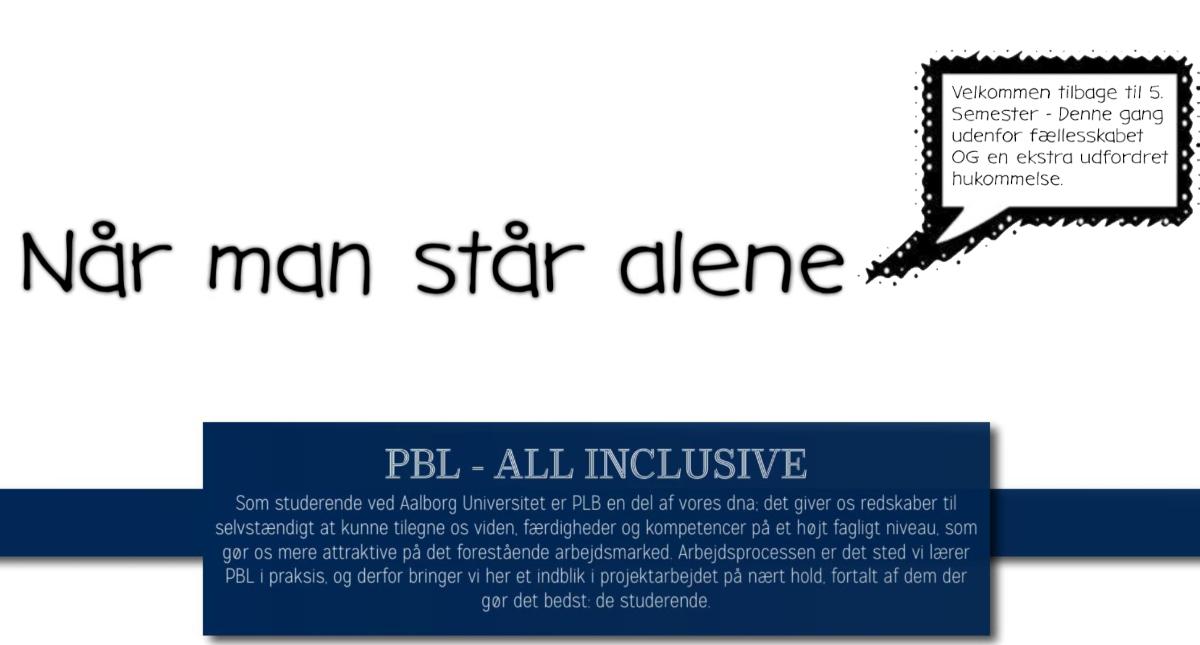 PBL – All INCLUSIVE // Når man står alene