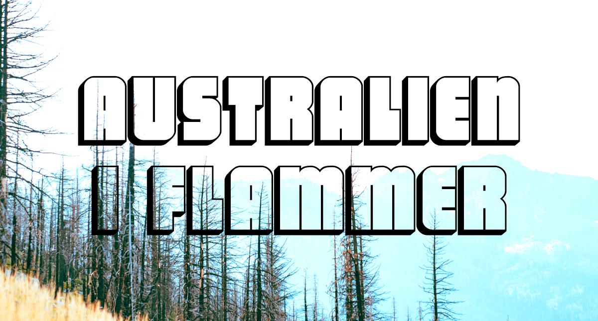 Australien i flammer